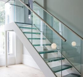 Custom Glass Staircase - Nashville, TN
