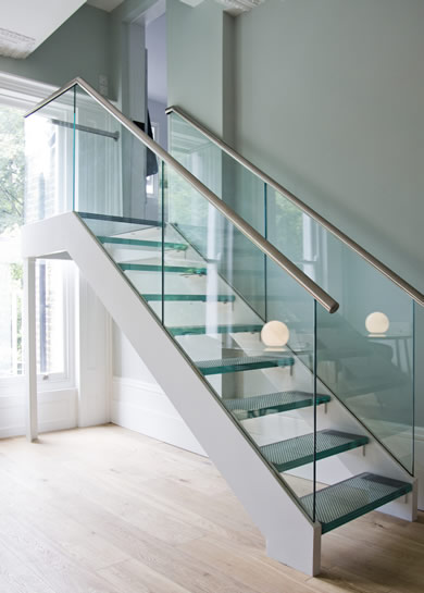 Custom Glass Staircase   Nashville, TN